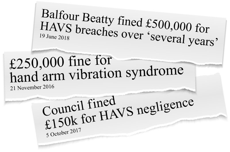 Hand Arm Vibration Syndrome (HAVS) - the effects on businesses headlines